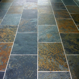 multicolor slate flooring tiles